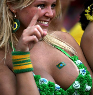 Brazilian World Cup fan