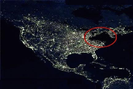power outage in the Northeast US