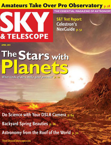 Sky and Telescope cover April 2011