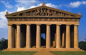 how does roman architecture influence washington dc
