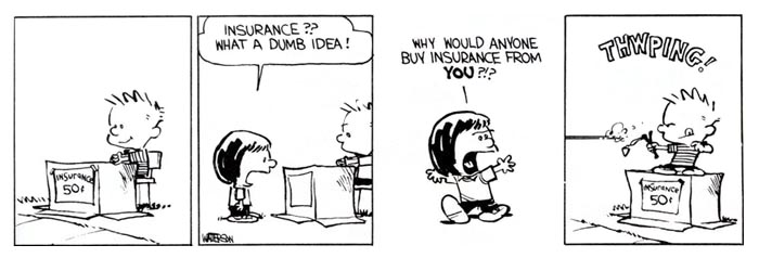 Calvin and Insurance polices