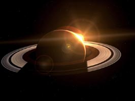 Saturn and the Sun