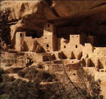 Deserted Pueblo Dwellings in the Southwest