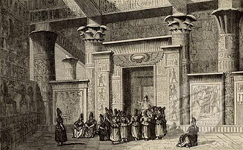Egyptian priests and their Temple