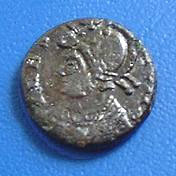 Romulus on a coin