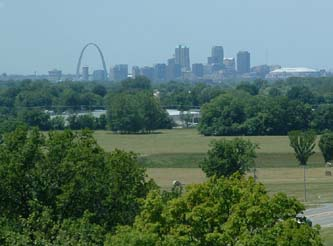 St Louis from Cahokia