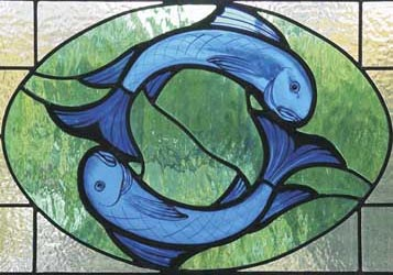 Stained Glass Pisces