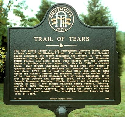 Historical Marker- Trail of Tears