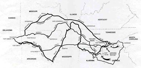 Route of the Trail of Tears