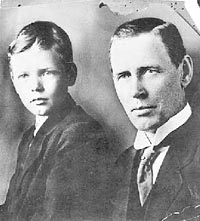 Charles Lindbergh and son