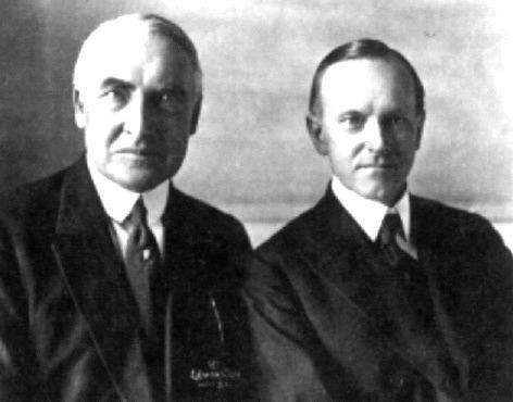 harding coolidge and hoover The role of the coolidge administration in the history of not hold coolidge responsible for the harding scandals and handed by the incoming hoover.